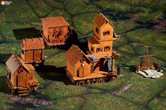 Варгейм-террейн: Деревня на болотах