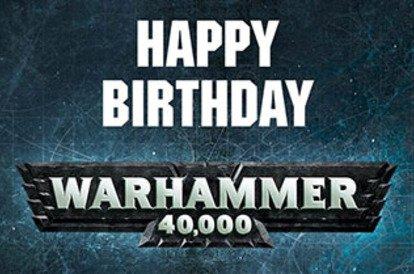 Warhammer 40K 8th edition anniversary