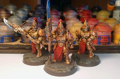 How to paint a Custodes army in one evening
