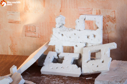 Terrain for Warhammer 40k: hand made ruins