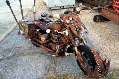 Self-made ork bike
