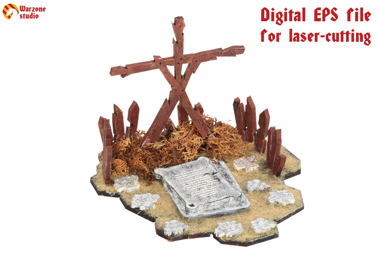 Wargaming terrain: Shrine - vector